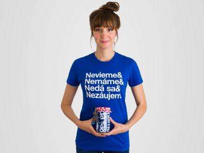 DÁMSKE TRIČKO THE & OF SLOVAKIA BLUE   KOMPOT