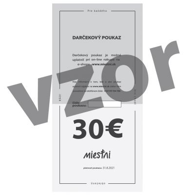 DARČEKOVÝ POUKAZ NA 30 EUR